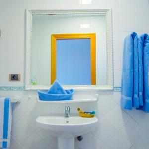 Die modernen Badezimmer bieten den Komfort, den Sie sich für Ihren Urlaub wünschen.