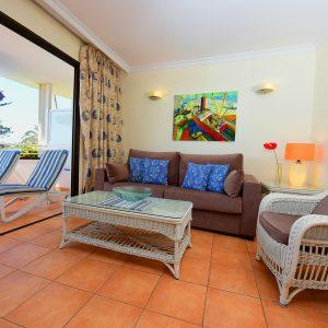 Die Apartments im Hotel Taboga sind komfortabel möbeliert